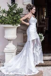 Custom made size 8-10 Ivory lace Wedding dress