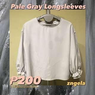 💿 Pale Gray Ruffled Longsleeves 💿