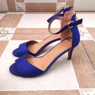 H&M Navy Velvet Heels