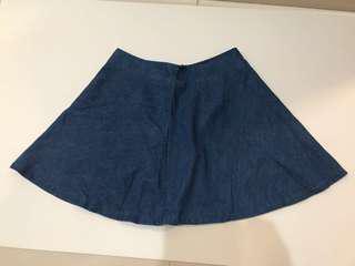 Korea denim mini skirt 韓國牛仔短裙