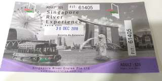 Singapore river cruise ticket