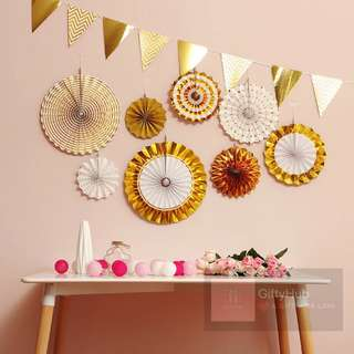 Party Paper Fan Set | Instock