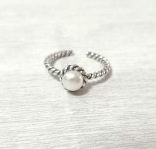 🚚 S925泰銀珍珠戒指