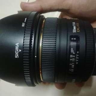 sigma 50mm 1.4f nikon mount