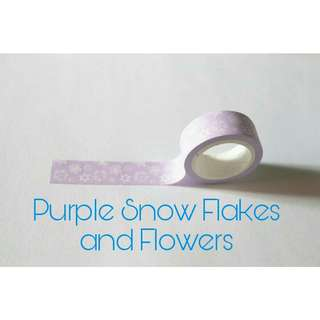 Snow Flakes and Flowers Paper tape