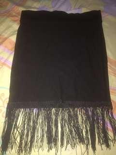 Rok mini hitam bahan kaos