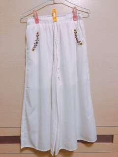 🚚 雪紡寬褲