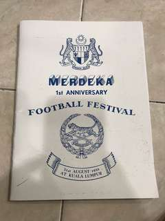 MERDEKA Football Festival Book (photocopy)