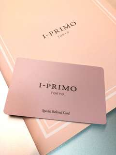 Iprimo I-Primo 10% Discount Referral Card