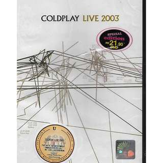 COLDPLAY Live In Sydney Australia 2003 DVD