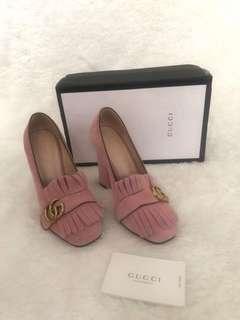 Gucci marmont heels mirror