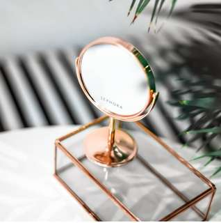 Sephora Exclusive Rose Gold Table Mirror