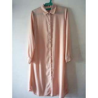 Baju Peach Panjang