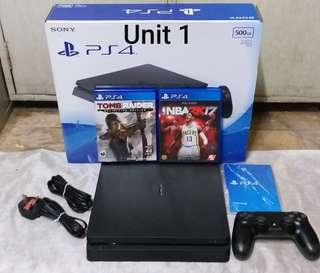 Ps4 slim 500gb for sale with 2 games