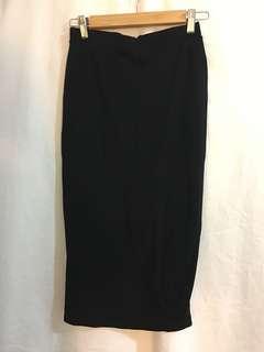 Bardot black midi skirt
