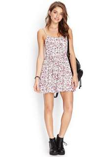 Forever21 Floral Cami Spaghetti Strap Dress