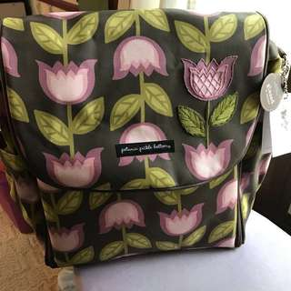 (Available) Petunia Pickle Bottom Boxy Backpack Diaper baby bag in Heavenly Holland