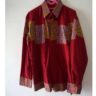Kemeja Batik Merah