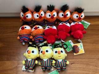 BN Ernie, Bert, Elmo hanging stuffed toy