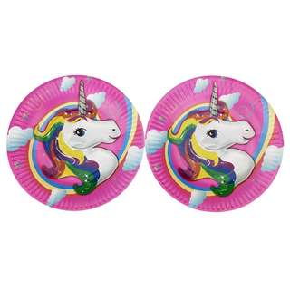 UNICORN PAPER PLATES 10 pcs