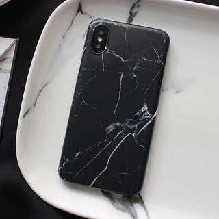 🚚 black marble iphone 7/8 TPU case
