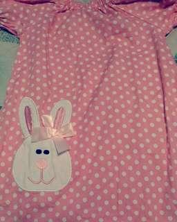 little pink polka dress