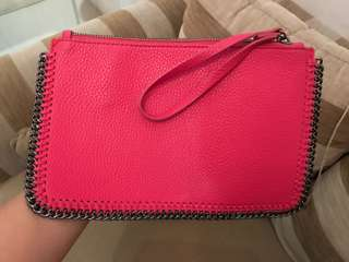 Clutch bag Mango pink