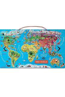 Janod Magnetic World Map (92 pieces)