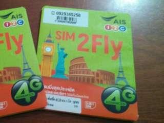 SIM2FLY by AIS全球版 4GB/15天4G上網卡1張