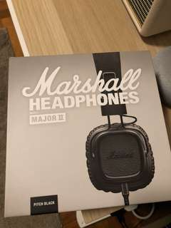 Marshall Major II Pitch Black (No Bluetooth)