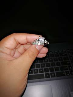 Engagement ring with stones