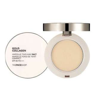 The Face Shop Gold Collagen Ampoule Two Way Pact