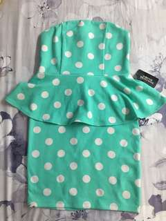 F21 peplum dress