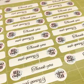Customised business label stickers
