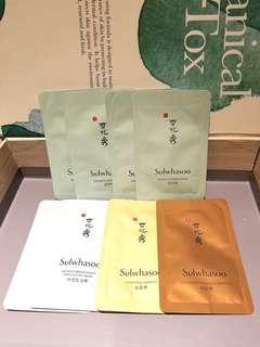 Sample全新一套8件專櫃直送Sulwhasoo雪花秀Mask Set
