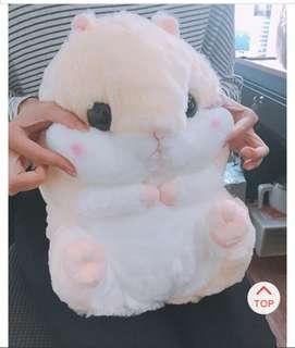 米倉鼠抱枕毯