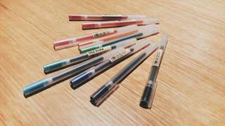 assorted muji pens set
