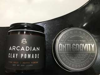Arcadian clay pomade and anti gravity