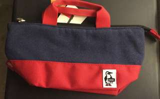 CHUMS 100% NEW navy tomato colour boat form pouch 全新 企鵝 紅藍色船型小袋