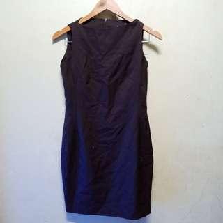 Classic Chocolate Brown Body Con Dress
