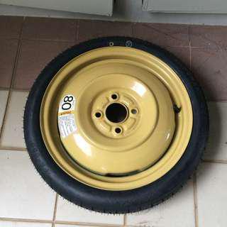 Temporary wheel 420kpa (60psi)