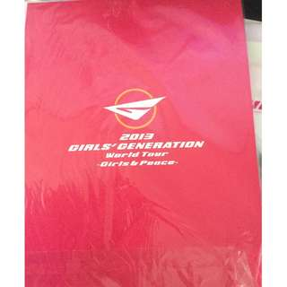 少女時代演唱會場刊 Girls Generation World Tour