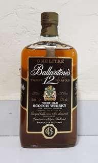 Ballantine's 12 yo 1L 43% 80s