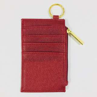 🌸SALE🌸 Red Leather Card Holder / Coin Purse / Keychain