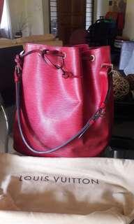 Authentic Louis Vuitton Noe Epi red