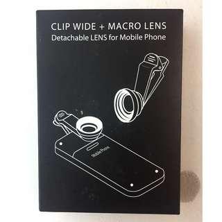 Clip Macro/Wide & Fish Lense for Smartphones