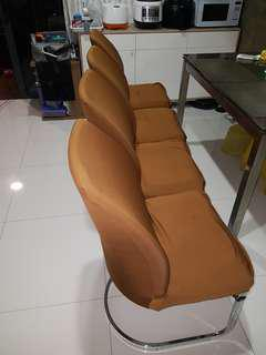 4 leather chairs for sale
