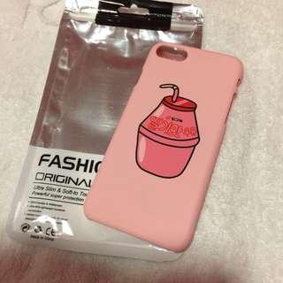 🌻BRANDNEW🌻 Iphone 7 Iphone 8 Strawberry Milk Korean Pink Matte Hard Case