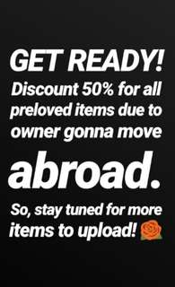 GET READY 50% SALE DISCOUNT!*