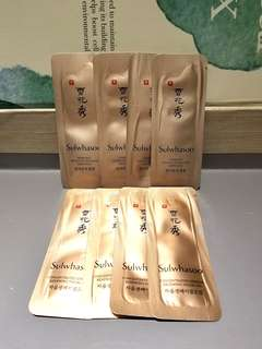 Sample一套8件(每件1ml)專櫃直送雪花秀Sulwhasoo Herblinc Intensive Infusion Ampoules x 4 and Concentrated Ginseng Renewing Facial Oil x 4